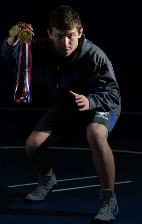 Bradley Rains won the first wrestling championship for Friendswood last year. He repeated as a state champ this year.Bradley Rains won the first wrestling championship for Friendswood last year. He repeated as a state champ this year.Bradley Rains won the first wrestling championship for Friendswood last year. He repeated as a state champ this year. Photo: J. Patric Schneider, Freelance / © 2014 Houston Chronicle