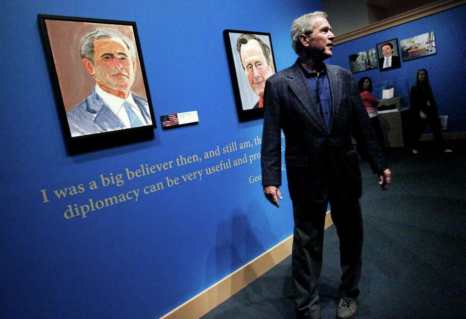 Former President George W. Bush painted more than two dozen portraits. Photo: Mona Reeder, MBR / The Dallas Morning News