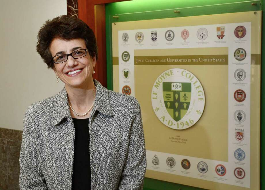 Linda LeMura was elected 14th president of Le Moyne college on April 3, 2014. / Syracuse Post-Standard Photo: David Lassman