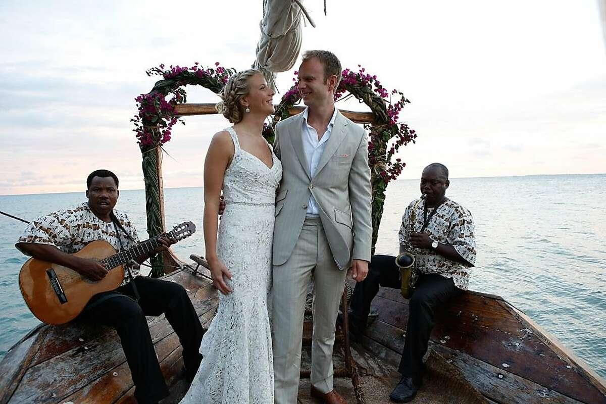 Heather Grabowski and Bartlomiej Jan Skorupa wed in Zanzibar, Africa,