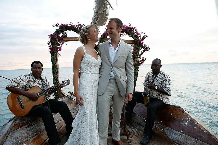 Heather Grabowski and Bartlomiej Jan Skorupa wed in Tanzania, where they became engaged. The ceremony was held in an old church, below, followed by a beach reception. Photo: Jayson Carpenter