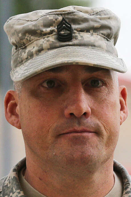 "Army 1st Sgt. Richard A. Smith ""used the Army as a dating service,"" a prosecutor said. / © 2014 San Antonio Express-News"