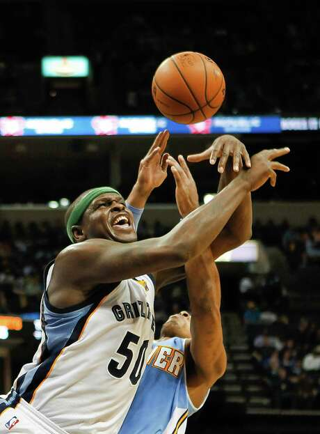 Memphis' Zach Randolph (50) fights for one of his 15 rebounds. Photo: Lance Murphey, FRE / FR78211 AP
