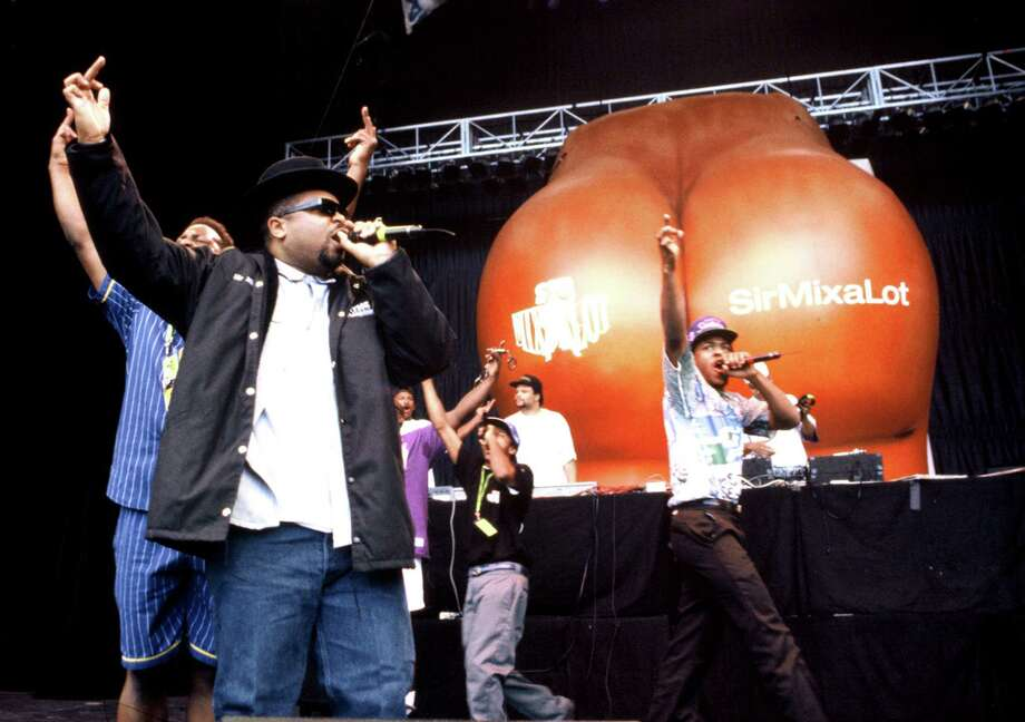 "Seattle's Sir Mix-A-Lot released his monster hit, ""Baby Got Back"" in 1992. Before grunge, he said, musicians left town for success and didn't brag about Seattle. (But the rapper did boast of his ""Posse of Broadway"" in the 80s). ""Seattle was weird,"" Mix said recently. ""When a guy like Quincy Jones made it, he would leave. That was Seattle's weakness; it didn't have a culture. Or it did, but it seemed to be ashamed. Every city has their icons, and we had Ivar Haglund. Our icon was a fisherman. Not that there's anything wrong with that."" (Photo: Mix-A-Lot performs in California in 1992).  Photo: Tim Mosenfelder, Getty Images / 2004 Tim Mosenfelder"