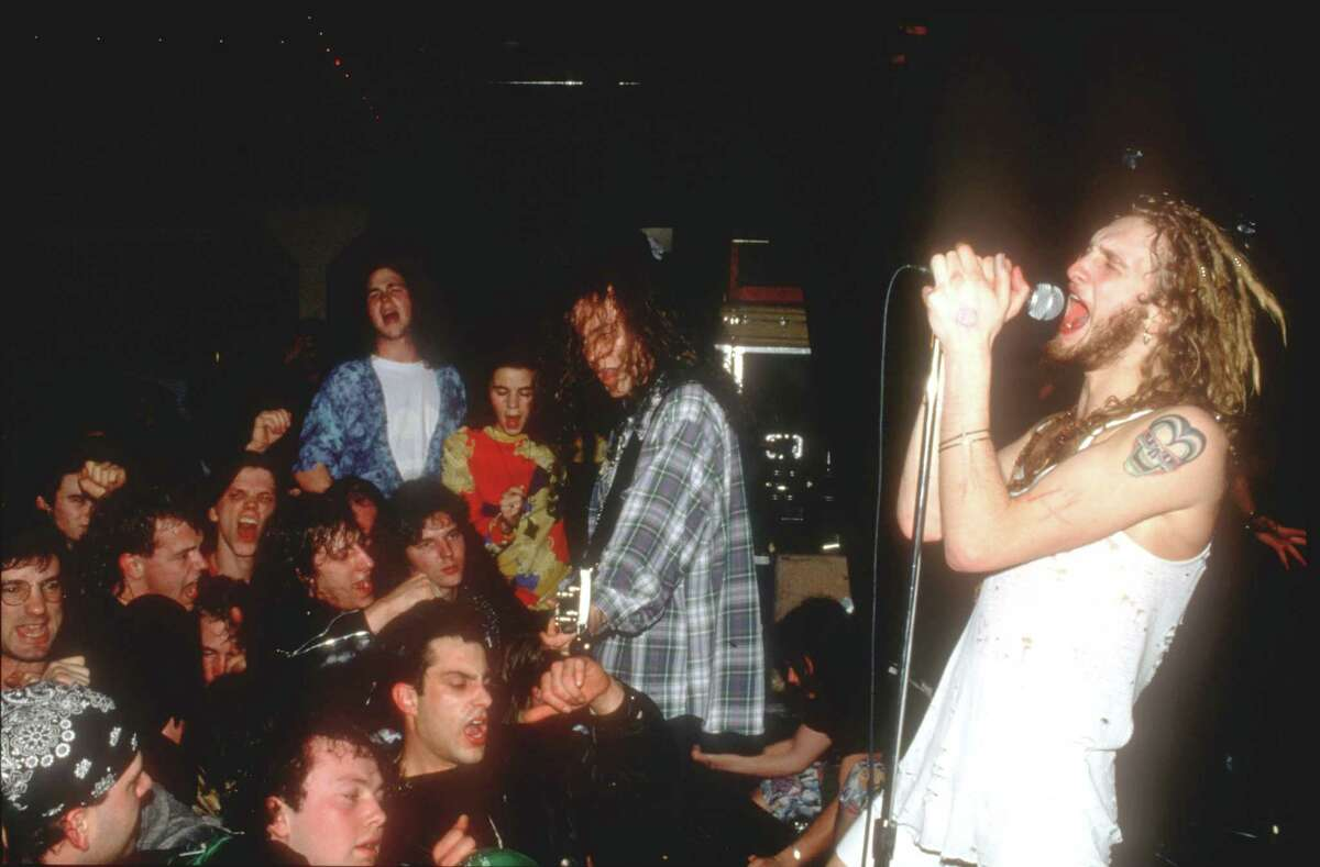 Layne Staley sings with Alice in Chains at the Off Ramp in Seattle, Feb. 4, 1991. Staley died of a drug overdose in 2002.