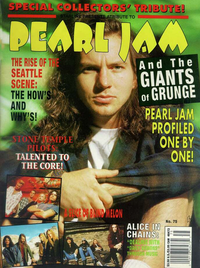 Seattle ruled magazine covers for a while, with bands appearing on Time, Newsweek and Rolling Stone. (This cover is from 1993).  Photo: P-I File