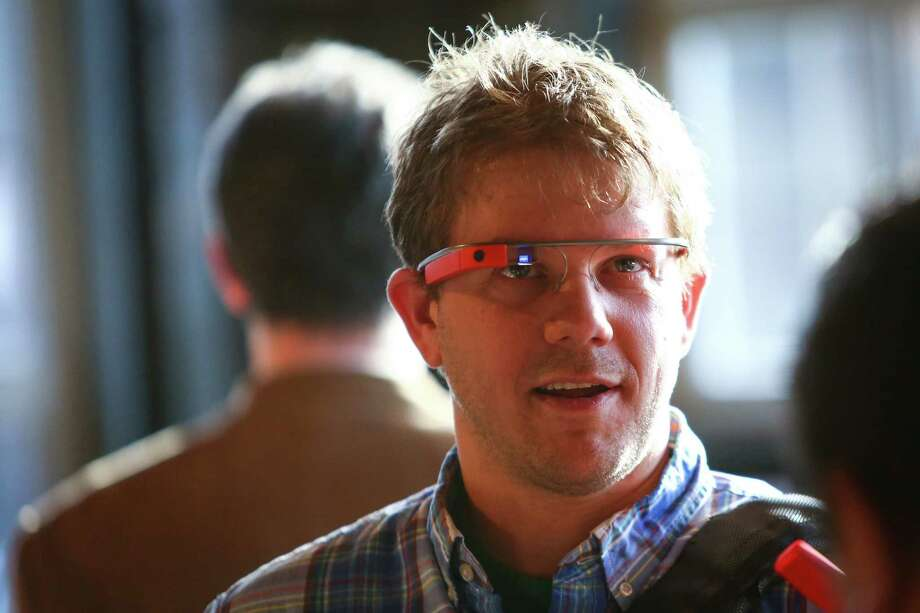 Anthony Hecht wears Google Glass during a public preview on Friday, April 4, 2014. The Google device will be available for the public to try on April 5th and 6th. Photo: JOSHUA TRUJILLO, SEATTLEPI.COM / SEATTLEPI.COM