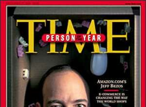 """Jeff Bezos, founder and CEO of Amazon.com, Inc., appears on the cover of the Dec. 20, 1999, issue of Time magazine as the magazine's """"Person of the Year"""" for 1999. """"There were two great themes of the year, online shopping and dot-com mania, and the minute we thought of Bezos it was obvious that he embodied both"""" the magazine wrote. (AP Photo/TIME)One of the few dot-com survivors was Jeff Bezos' Amazon.com. Photo: AP/1999"""