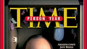 "Jeff Bezos, founder and CEO of Amazon.com, Inc., appears on the cover of the Dec. 20, 1999, issue of Time magazine as the magazine's ""Person of the Year"" for 1999. ""There were two great themes of the year, online shopping and dot-com mania, and the minute we thought of Bezos it was obvious that he embodied both"" the magazine wrote. (AP Photo/TIME)One of the few dot-com survivors was Jeff Bezos' Amazon.com. Photo: AP/1999"