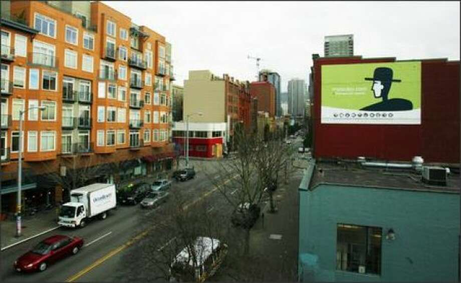 Another dot-com bubble victim from Seattle's '90s: MyLackey.com, whose billboard once hung high in Belltown.  Photo: P-I File