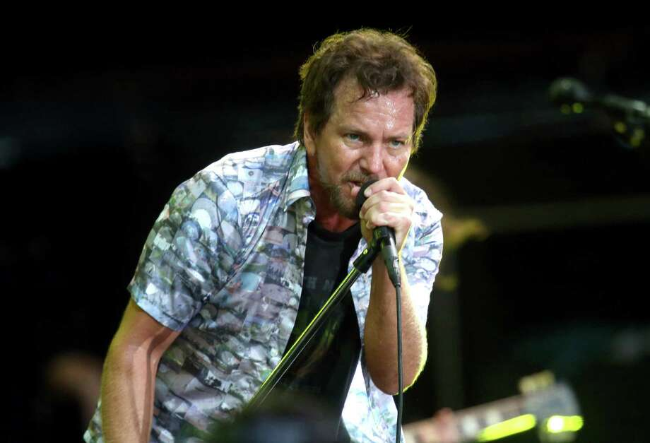 Eddie Vedder, on Jan. 17, 2014, at the Big Day Out Festival in Auckland, New Zealand.  Photo: Jason Oxenham, Getty Images / 2014 Getty Images