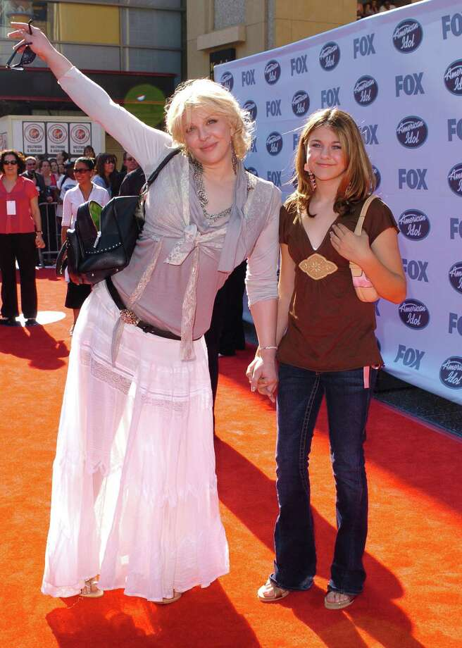 "Frances Bean Cobain has grown up in the shadow of a famous father long gone and with a mother who likes the spotlight. Courtney Love, left, and Cobain attend an ""American Idol"" finale in 2005.  Photo: SGranitz, Getty Images / WireImage"