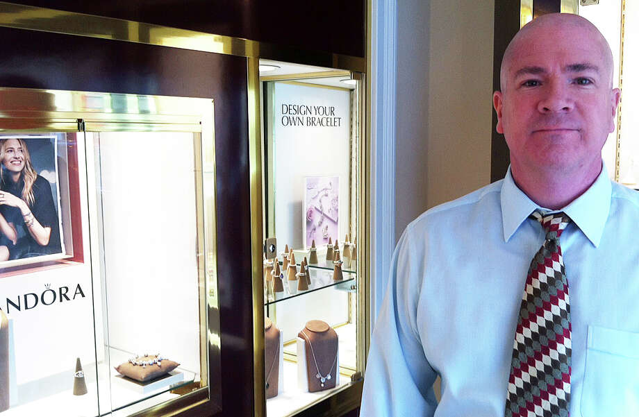 Noel du Pont in the new Sconset Square Store for Francois du Pont Jewelers. Photo: Jarret Liotta / Westport News
