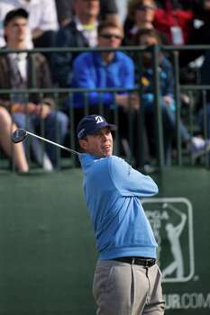 Matt Kuchar tees off at the first hole during the round three of the Shell Houston Open at the Golf Club of Houston, Saturday, April 5, 2014, in Humble. Photo: Marie D. De Jesus, Houston Chronicle / © 2014 Houston Chronicle