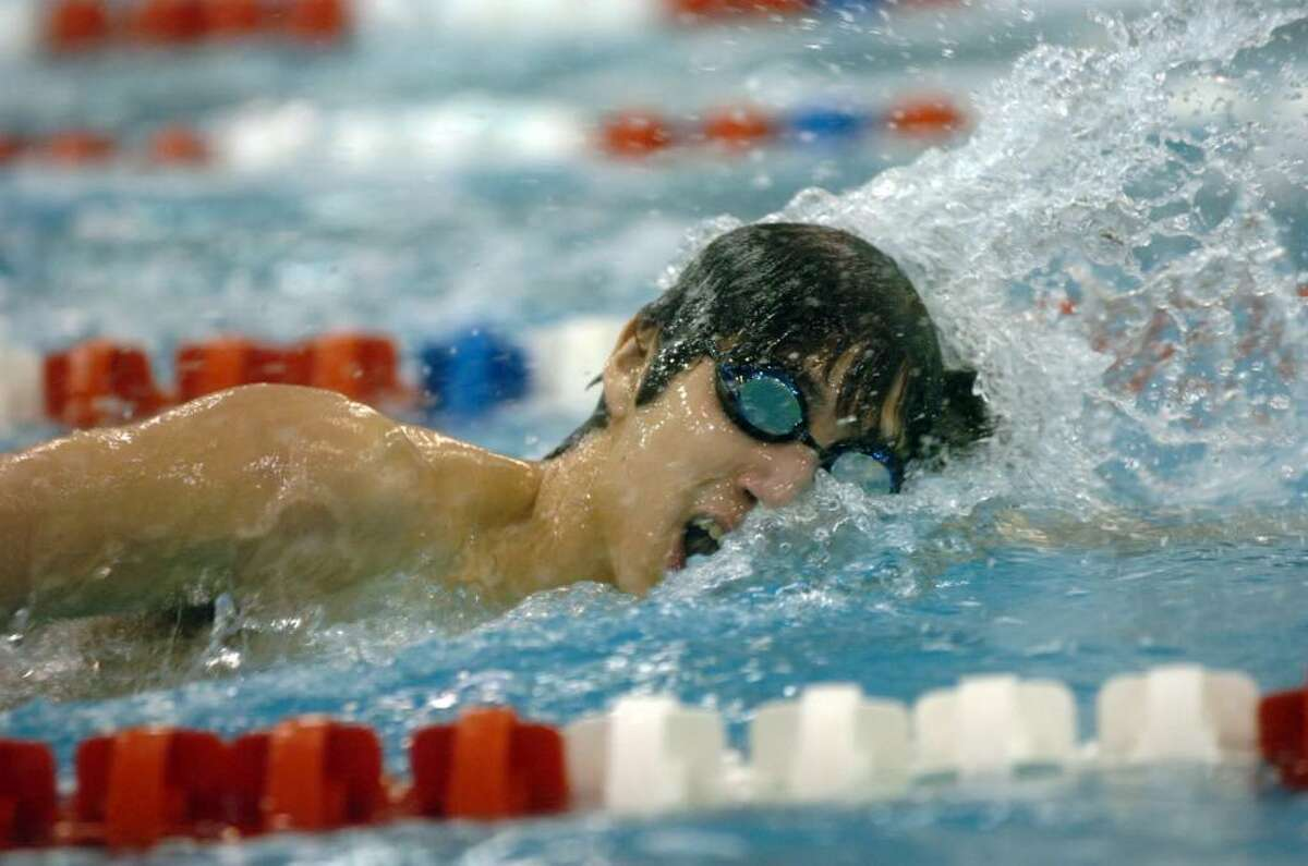 Greenwich HIgh's Tom Sorenson swims the 200 freestyle during Saturday's win over Fairfield Prep.