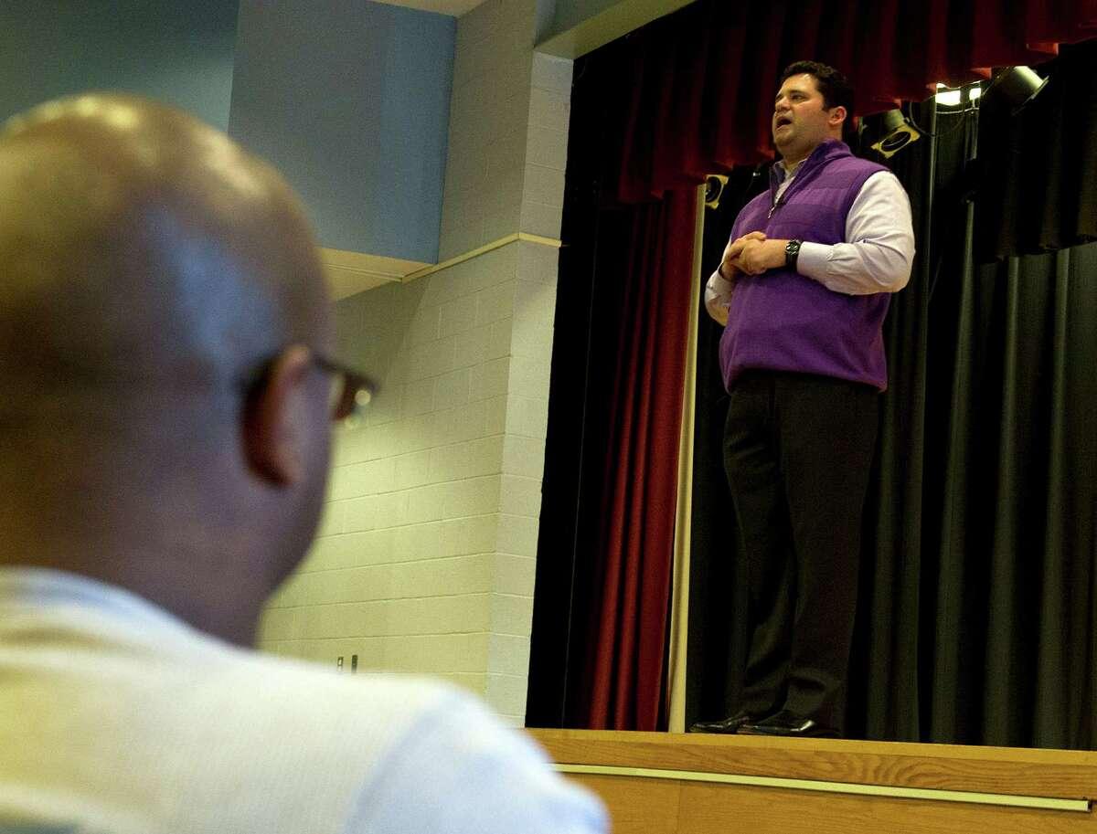 Marc Hoffman speaks during