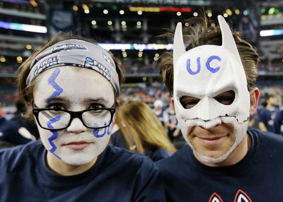 Connecticut fans show their support befer an NCAA Final Four tournament college basketball semifinal game against Florida Saturday, April 5, 2014, in Dallas. Photo: Eric Gay, AP / Associated Press