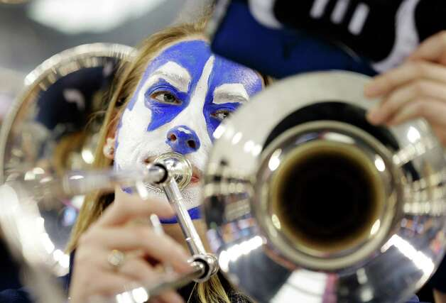 The Connecticut band plays before their NCAA Final Four tournament college basketball semifinal game against Florida  Saturday, April 5, 2014, in Dallas. Photo: Eric Gay, AP / Associated Press