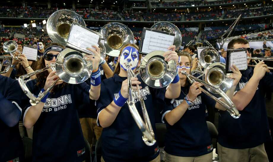 ARLINGTON, TX - APRIL 05: The Connecticut Huskies band performs prior to the NCAA Men's Final Four Semifinal against the Florida Gators at AT&T Stadium on April 5, 2014 in Arlington, Texas. Photo: Ronald Martinez, Getty Images / Getty Images