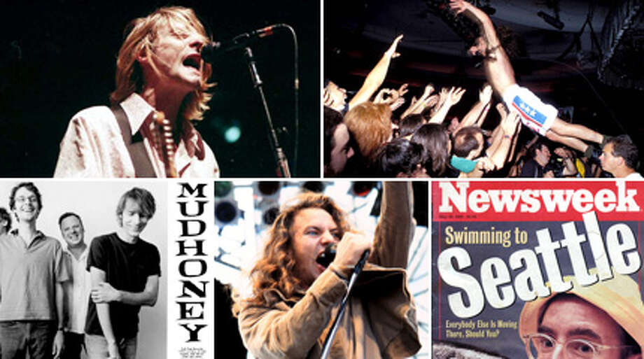 In honor of Nirvana's induction into the Rock and Roll Hall of Fame and the 20th anniversary of Kurt Cobain's death, here's a trip back to the '90s in Seattle, when music was loud, hair was stringy, and everyone thought Seattle was cool.  Photo: File/Getty