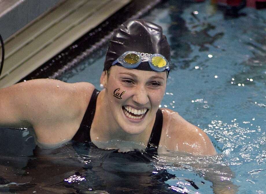 Missy Franklin, of California, celebrates after winning the 200-yard freestyle event at the NCAA Women's Division I Championships in Minneapolis, Friday March 21. 2014.(AP Photo/Andy Clayton-King) Photo: Andy Clayton King, Associated Press