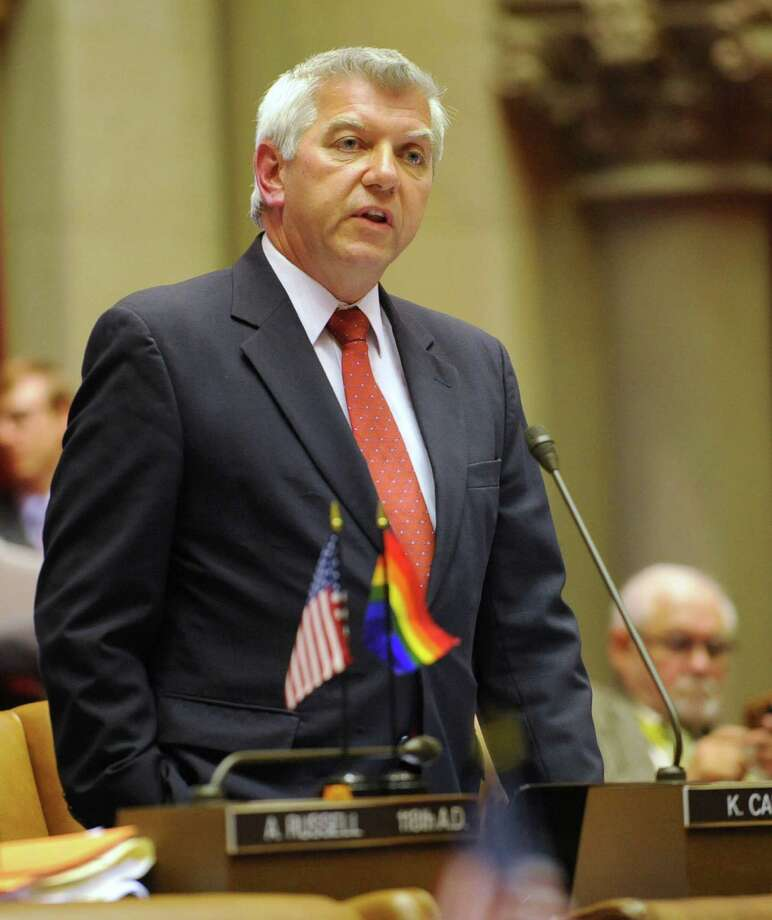 Assemblyman Kevin Cahill comments before voting for marriage equality at the Capitol in Albany, N.Y. Wednesday June 15, 2011.  (Lori Van Buren / Times Union) Photo: Lori Van Buren / 00013550A