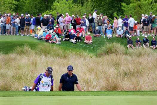 Phil Mickelson walks toward the 16th hole green on round three of the Shell Houston Open at the Golf Club of Houston, Saturday, April 5, 2014, in Humble. Photo: Marie D. De Jesus, Houston Chronicle / © 2014 Houston Chronicle