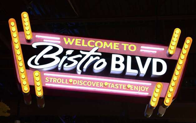 Sign for the Bistro Blvd area of new Market Bistro by Price Chopper on Tuesday, April 1, 2014. Bistro Blvd offers customers a wide variety of food from individual kiosks and a common dining area.  (Will Waldron/Times Union) Photo: WW / 00026325A