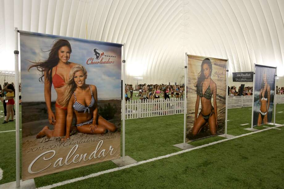 4/5/14: Ladies wearing a variety of outfits and ranging from 18 years of age into thither 30's tried out for the 2014-15 Houston Texas Cheerleading Team at the practice bubble on the Houston Texans grounds in Houston, Texas. Music was provided by DJ Ran. Photo: Thomas B. Shea