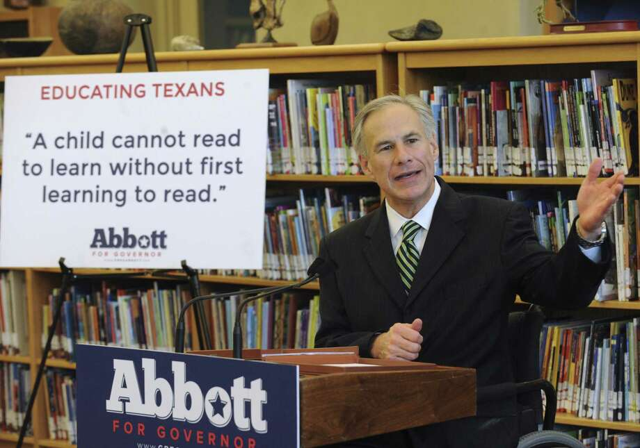 Republican gubernatorial hopeful Greg Abbott's 26-page pre-K plan takes swipes at the effectiveness of preschool. Photo: Billy Calzada / San Antonio Express-News / SAN ANTONIO EXPRESS-NEWS
