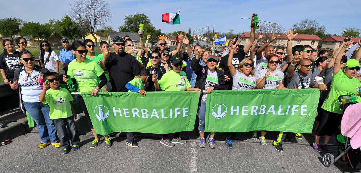 Herbalife had about 50 participants at last month's César E. Chávez March for Justice. The company actively recruits its distributors from the Latino community.