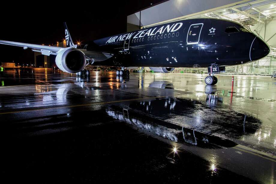 Boeing rolls out the first 787-9 for Air New Zealand, the launch customer for the variant. It is the first airplane with the black version of Air New Zealand's new livery. Photo: Jeremy Dwyer-Lindgren/Airchive.com