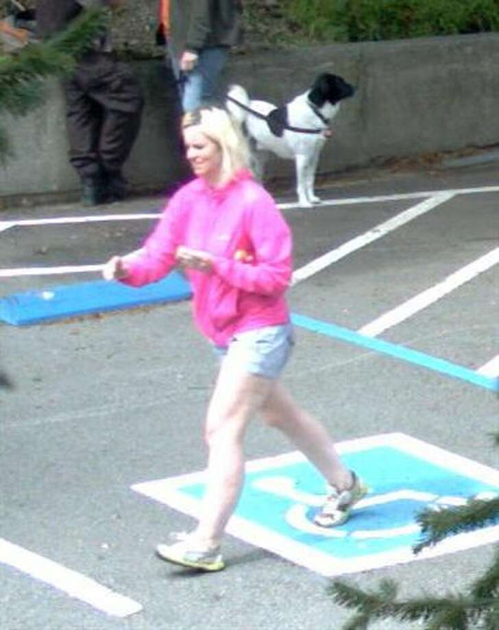 "Security camera footage shows the missing 33-year-old Magdalena Glinkowski in the ""Bootjack"" parking lot on Mt. Tamalpais on Sunday, March 30."
