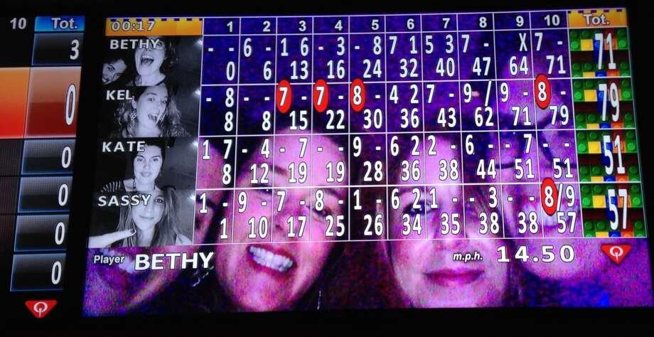 Selfie scoreboard.