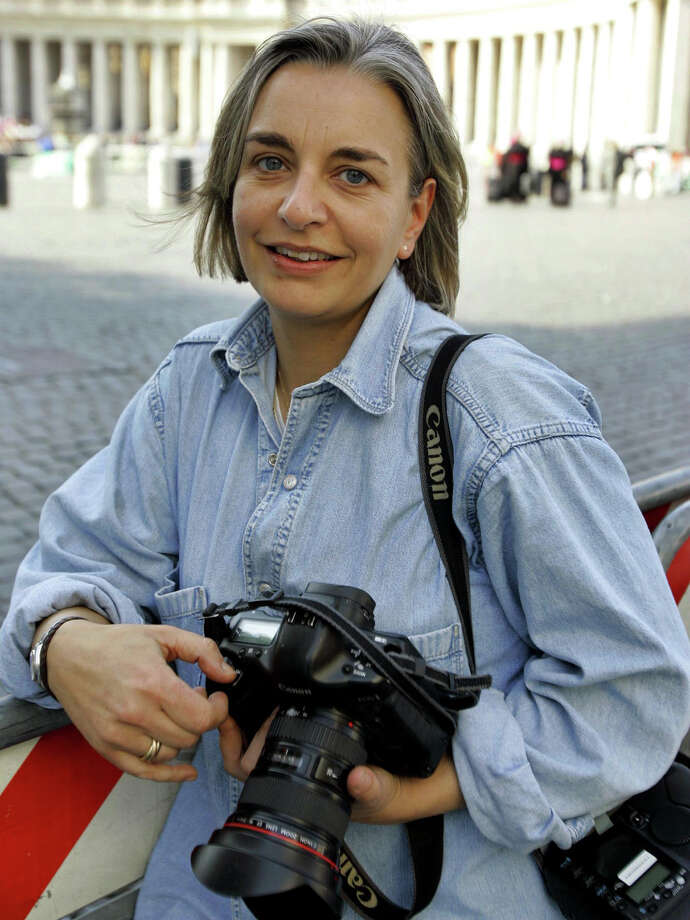 This April 7, 2005 photo shows AP photographer Anja Niedringhaus in Rome. Niedringhaus, 48, an internationally acclaimed German photographer, was killed and an AP reporter was wounded on Friday, April 4, 2014 when an Afghan policeman opened fire while they were sitting in their car in eastern Afghanistan. Photo: Peter Dejong, AP  / AP