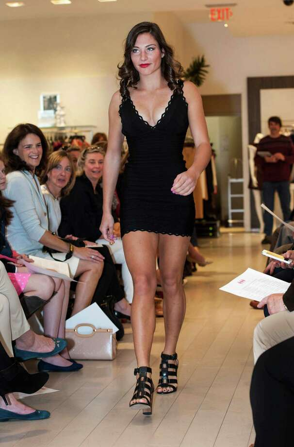 Kate Connick from the King school walks down the runway during the 10th Annual Juniors Fashion Show to raise funds for the Breast Cancer Alliance organization, held at Mitchells/Richards, Greenwich, CT on Sunday, April, 6th, 2014. Photo: Mark Conrad / Connecticut Post Freelance