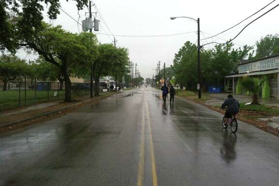Until the day warmed up and rain moved on, few people attended the City of Houston's Sunday Streets event, which closed a more than two-mile stretch of White Oak and Quitman to vehicle traffic for four hours. By 1 p.m., officials reported more than 2,000 people had filled the street.