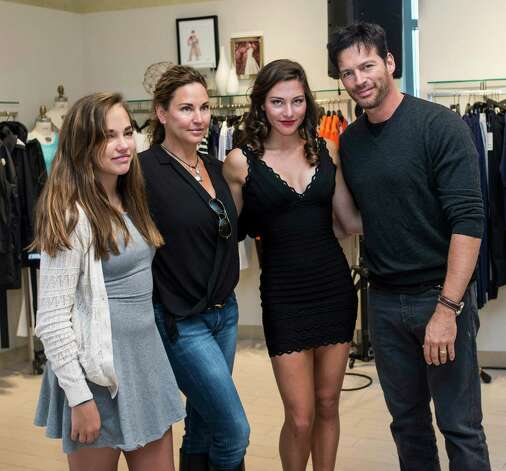 Left to right; Charlotte Connick, Jill Goodacre Connick, Kate Connick, and Harry Connick Jr. at the 10th Annual Juniors Fashion Show to raise funds for the Breast Cancer Alliance organization, held at Mitchells/Richards, Greenwich, CT on Sunday, April, 6th, 2014. Photo: Mark Conrad / Connecticut Post Freelance