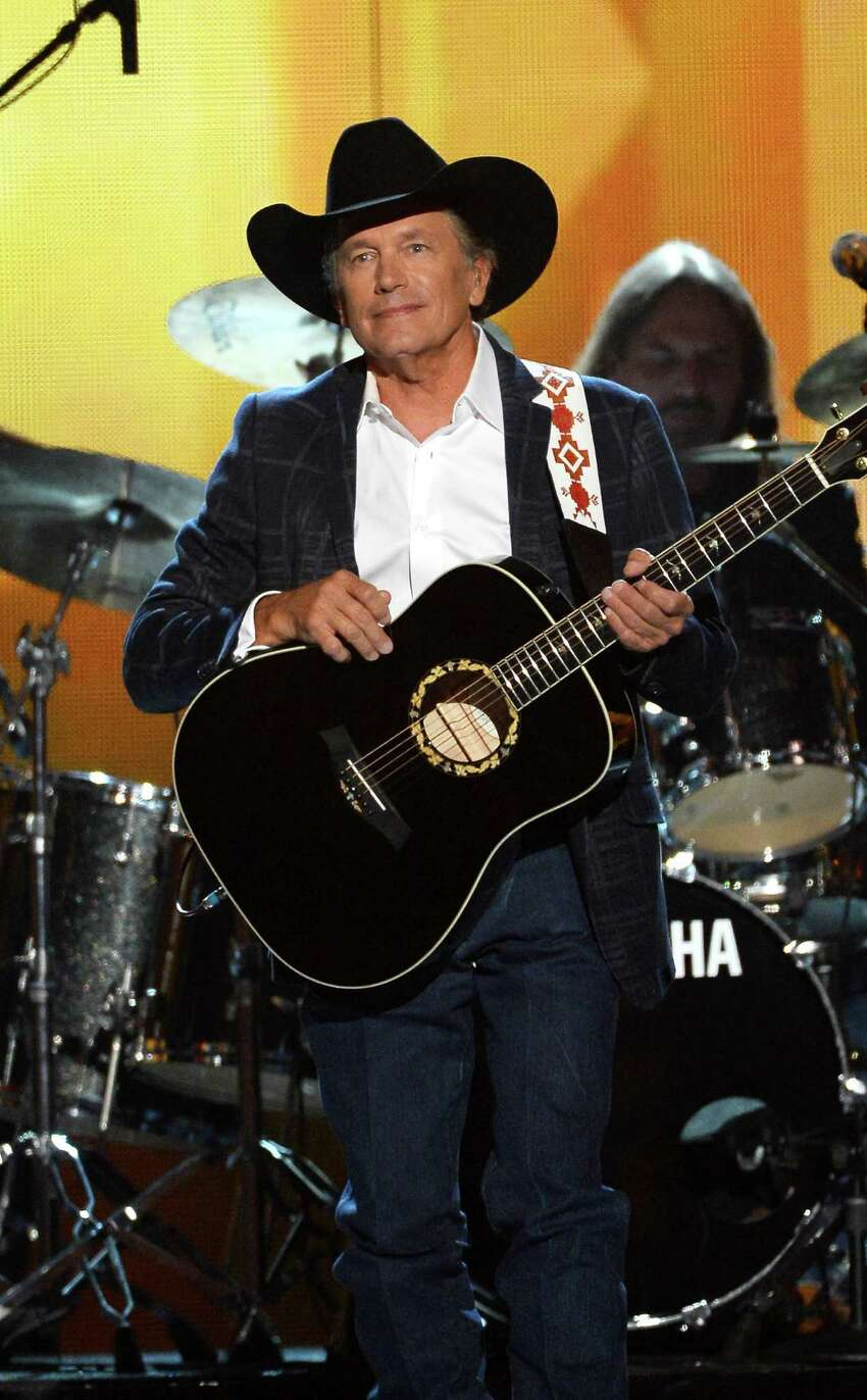 LAS VEGAS, NV - APRIL 06: Singer George Strait performs onstage during the 49th Annual Academy Of Country Music Awards at the MGM Grand Garden Arena on April 6, 2014 in Las Vegas, Nevada.