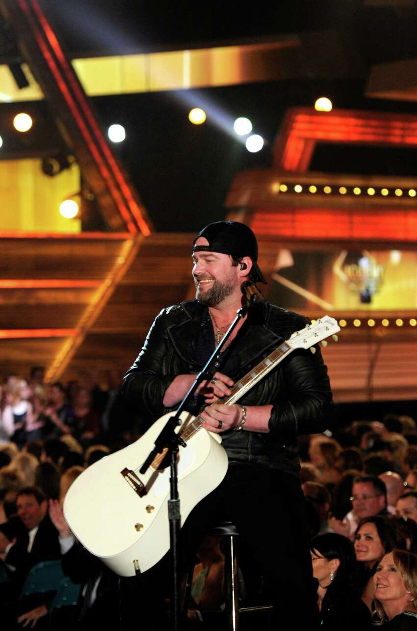 LAS VEGAS, NV - APRIL 06: Singer Lee Brice performs onstage during the 49th Annual Academy Of Country Music Awards at the MGM Grand Garden Arena on April 6, 2014 in Las Vegas, Nevada.