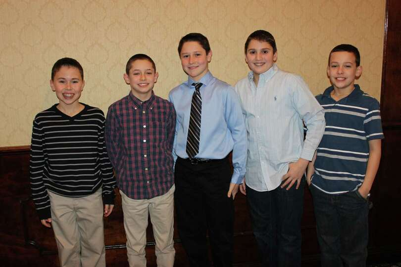 Members of the Guilderland Pop Warner squad were among those recognized at the Little SCholars Lunch
