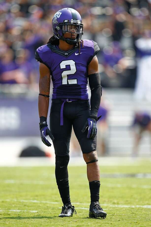 31. Denver: Jason Verrett, CB, TCU.  Lacks ideal size, but he's fast, and he can cover all over the field.  Mock 1: Xavier Su'a-Filo, G, UCLA. Photo: Sarah Glenn, Getty Images