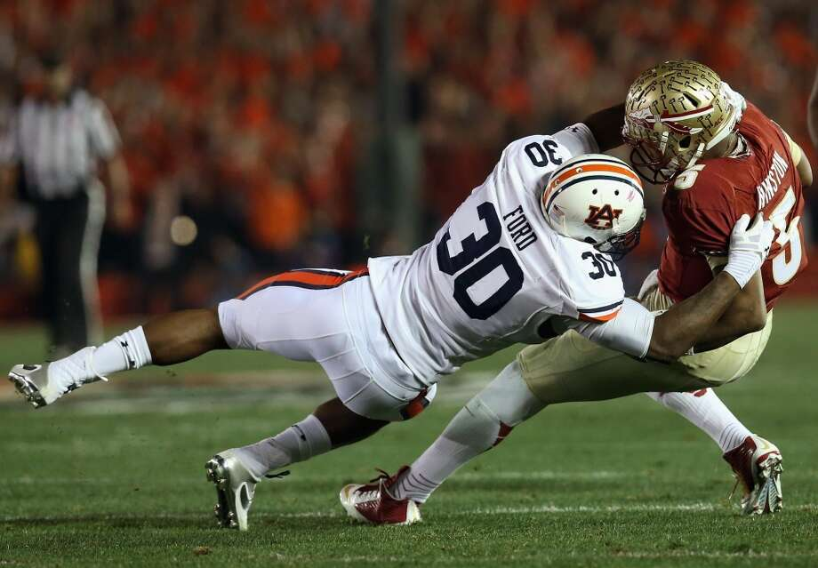 27. New Orleans: Dee Ford, DE, Auburn.  They need to improve their pass rush, and he's terrific off the edge.  Mock 1: Ford. Photo: Stephen Dunn, Getty Images