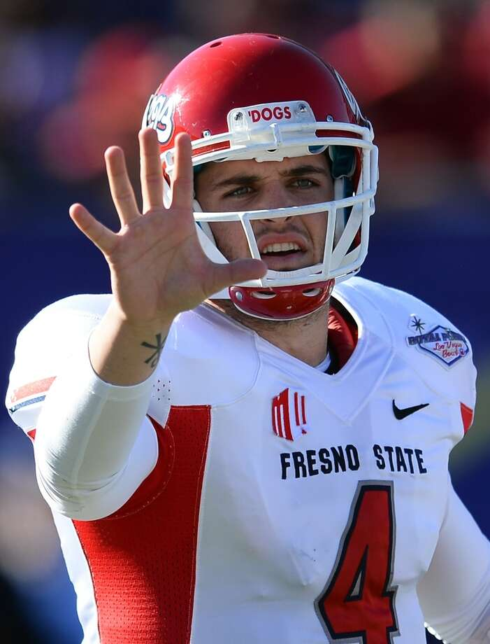 26. Cleveland: Derek Carr, QB, Fresno State.  The fourth-best quarterback prospect can learn behind Brian Hoyer.  Mock 1: Carr. Photo: Ethan Miller, Getty Images