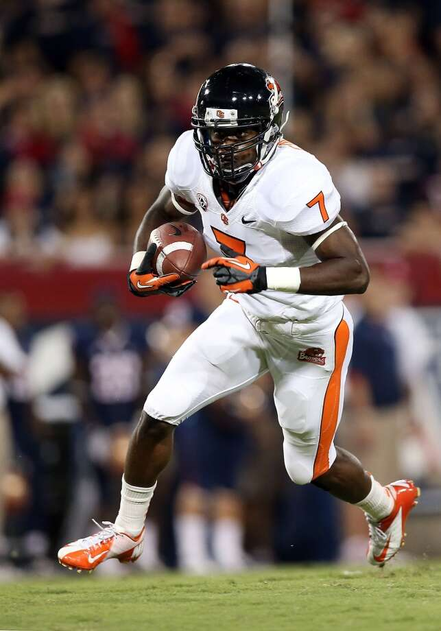 18. NY Jets: Brandin Cooks, WR, Oregon State.  The fastest receiver in the draft is a complement to Eric Decker.  Mock 1: Marqise Lee, WR, USC. Photo: Christian Petersen, Getty Images