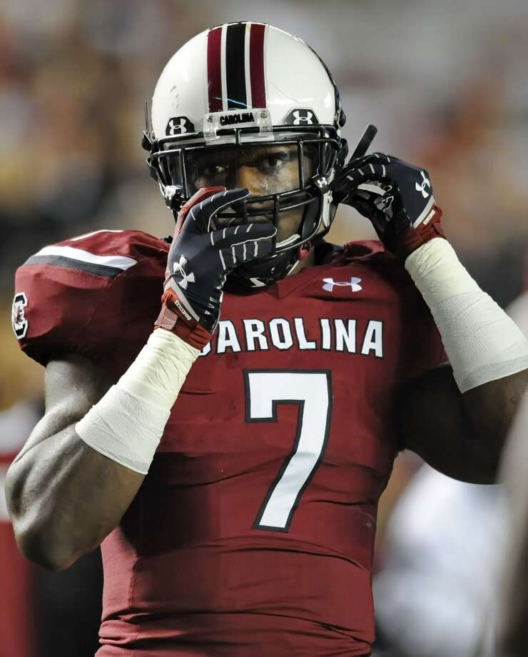 2. St. Louis: Jadeveon Clowney, DE, South Carolina.  He'll be the fourth first-round pick in their defensive line.  Mock 1: Jake Matthews, OT, Texas A&M. Photo: Richard Shiro, Associated Press