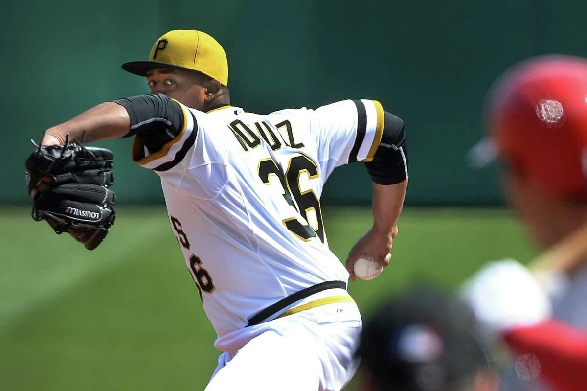 Edinson Volquez yielded one run and three hits in 52/3 innings to help Pittsburgh edge St. Louis.