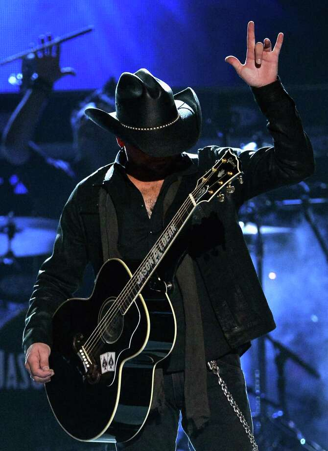 LAS VEGAS, NV - APRIL 06:  Singer Jason Aldean performs onstage during the 49th Annual Academy Of Country Music Awards at the MGM Grand Garden Arena on April 6, 2014 in Las Vegas, Nevada. Photo: Ethan Miller, Getty Images / 2014 Getty Images