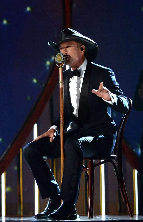 LAS VEGAS, NV - APRIL 06:  Singer Tim McGraw performs onstage during the 49th Annual Academy Of Country Music Awards at the MGM Grand Garden Arena on April 6, 2014 in Las Vegas, Nevada. Photo: Ethan Miller, Getty Images / 2014 Getty Images