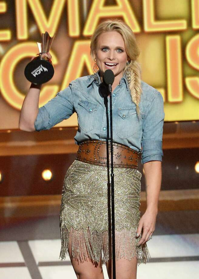 LAS VEGAS, NV - APRIL 06:  Singer/songwriter Miranda Lambert speaks onstage during the 49th Annual Academy Of Country Music Awards at the MGM Grand Garden Arena on April 6, 2014 in Las Vegas, Nevada. Photo: Ethan Miller, Getty Images / 2014 Getty Images